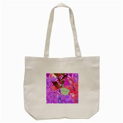Abstract Design With Hummingbirds Tote Bag (cream) by Nexatart