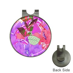 Abstract Design With Hummingbirds Hat Clips With Golf Markers