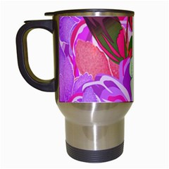 Abstract Design With Hummingbirds Travel Mugs (white) by Nexatart