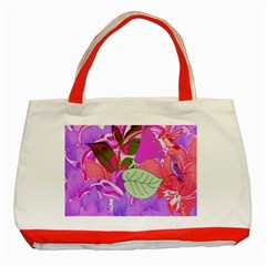 Abstract Design With Hummingbirds Classic Tote Bag (Red) by Nexatart