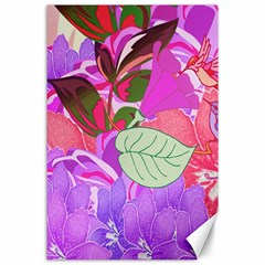 Abstract Design With Hummingbirds Canvas 24  X 36