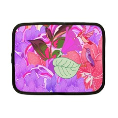Abstract Design With Hummingbirds Netbook Case (small)  by Nexatart