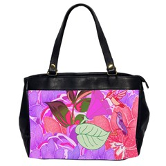Abstract Design With Hummingbirds Office Handbags (2 Sides)  by Nexatart