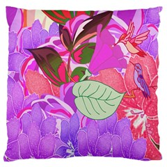 Abstract Design With Hummingbirds Large Cushion Case (two Sides) by Nexatart