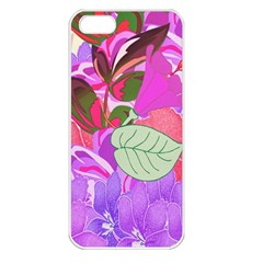 Abstract Design With Hummingbirds Apple Iphone 5 Seamless Case (white)