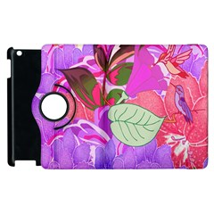 Abstract Design With Hummingbirds Apple Ipad 3/4 Flip 360 Case by Nexatart