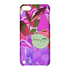 Abstract Design With Hummingbirds Apple Ipod Touch 5 Hardshell Case With Stand