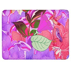 Abstract Design With Hummingbirds Samsung Galaxy Tab 7  P1000 Flip Case