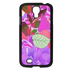 Abstract Design With Hummingbirds Samsung Galaxy S4 I9500/ I9505 Case (black) by Nexatart