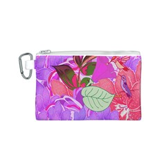 Abstract Design With Hummingbirds Canvas Cosmetic Bag (s) by Nexatart