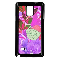 Abstract Design With Hummingbirds Samsung Galaxy Note 4 Case (black) by Nexatart