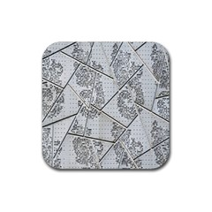 The Abstract Design On The Xuzhou Art Museum Rubber Coaster (square)  by Nexatart