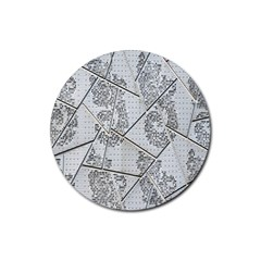 The Abstract Design On The Xuzhou Art Museum Rubber Coaster (round)  by Nexatart