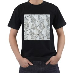 The Abstract Design On The Xuzhou Art Museum Men s T Shirt (black) (two Sided)