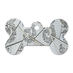 The Abstract Design On The Xuzhou Art Museum Dog Tag Bone (two Sides) by Nexatart