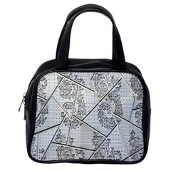 The Abstract Design On The Xuzhou Art Museum Classic Handbags (one Side)