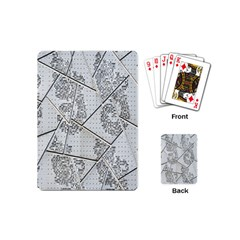 The Abstract Design On The Xuzhou Art Museum Playing Cards (mini)  by Nexatart