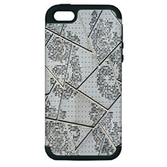 The Abstract Design On The Xuzhou Art Museum Apple Iphone 5 Hardshell Case (pc+silicone) by Nexatart