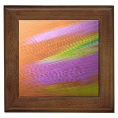 Metallic Brush Strokes Paint Abstract Texture Framed Tiles
