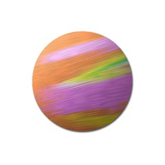 Metallic Brush Strokes Paint Abstract Texture Magnet 3  (round) by Nexatart