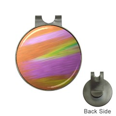 Metallic Brush Strokes Paint Abstract Texture Hat Clips With Golf Markers by Nexatart