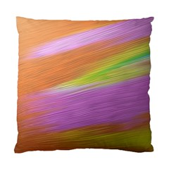 Metallic Brush Strokes Paint Abstract Texture Standard Cushion Case (two Sides) by Nexatart
