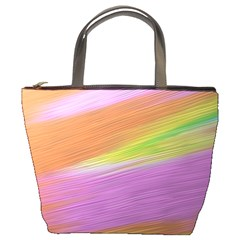 Metallic Brush Strokes Paint Abstract Texture Bucket Bags by Nexatart