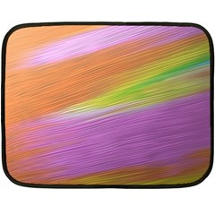 Metallic Brush Strokes Paint Abstract Texture Double Sided Fleece Blanket (mini)  by Nexatart