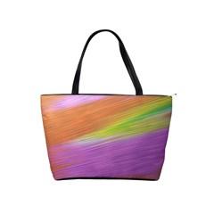 Metallic Brush Strokes Paint Abstract Texture Shoulder Handbags by Nexatart