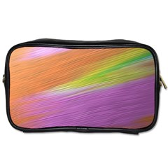 Metallic Brush Strokes Paint Abstract Texture Toiletries Bags 2 Side by Nexatart