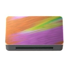 Metallic Brush Strokes Paint Abstract Texture Memory Card Reader With Cf