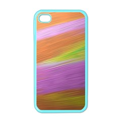Metallic Brush Strokes Paint Abstract Texture Apple Iphone 4 Case (color) by Nexatart
