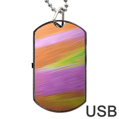 Metallic Brush Strokes Paint Abstract Texture Dog Tag Usb Flash (two Sides) by Nexatart