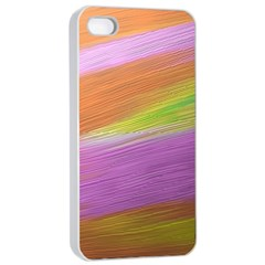 Metallic Brush Strokes Paint Abstract Texture Apple Iphone 4/4s Seamless Case (white) by Nexatart
