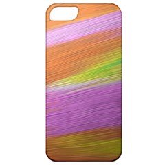 Metallic Brush Strokes Paint Abstract Texture Apple Iphone 5 Classic Hardshell Case by Nexatart