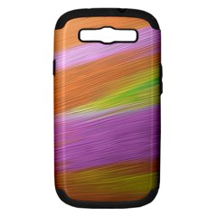 Metallic Brush Strokes Paint Abstract Texture Samsung Galaxy S Iii Hardshell Case (pc+silicone) by Nexatart