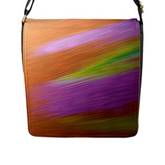 Metallic Brush Strokes Paint Abstract Texture Flap Messenger Bag (l)  by Nexatart