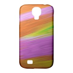 Metallic Brush Strokes Paint Abstract Texture Samsung Galaxy S4 Classic Hardshell Case (pc+silicone)