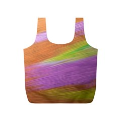 Metallic Brush Strokes Paint Abstract Texture Full Print Recycle Bags (s)  by Nexatart