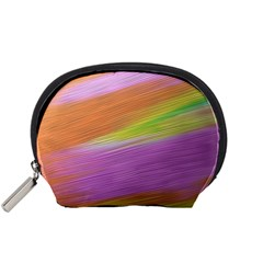 Metallic Brush Strokes Paint Abstract Texture Accessory Pouches (small)