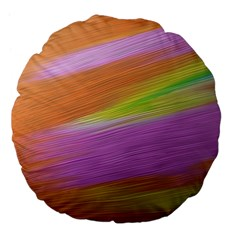Metallic Brush Strokes Paint Abstract Texture Large 18  Premium Flano Round Cushions by Nexatart