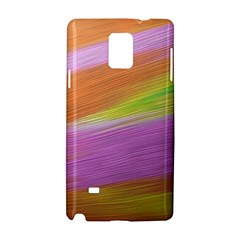 Metallic Brush Strokes Paint Abstract Texture Samsung Galaxy Note 4 Hardshell Case by Nexatart