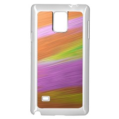 Metallic Brush Strokes Paint Abstract Texture Samsung Galaxy Note 4 Case (white) by Nexatart