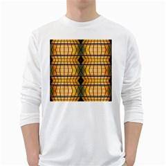Light Steps Abstract White Long Sleeve T Shirts
