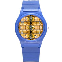 Light Steps Abstract Round Plastic Sport Watch (s) by Nexatart