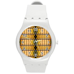 Light Steps Abstract Round Plastic Sport Watch (m) by Nexatart
