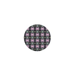 Colorful Pixelation Repeat Pattern 1  Mini Buttons by Nexatart