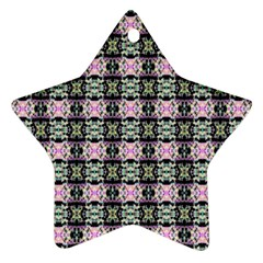 Colorful Pixelation Repeat Pattern Ornament (star) by Nexatart