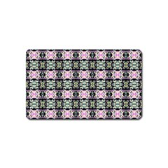 Colorful Pixelation Repeat Pattern Magnet (name Card) by Nexatart