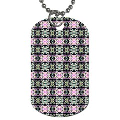 Colorful Pixelation Repeat Pattern Dog Tag (one Side) by Nexatart